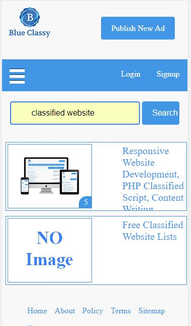 Responsive Classified Website To Earn Money From Adsense