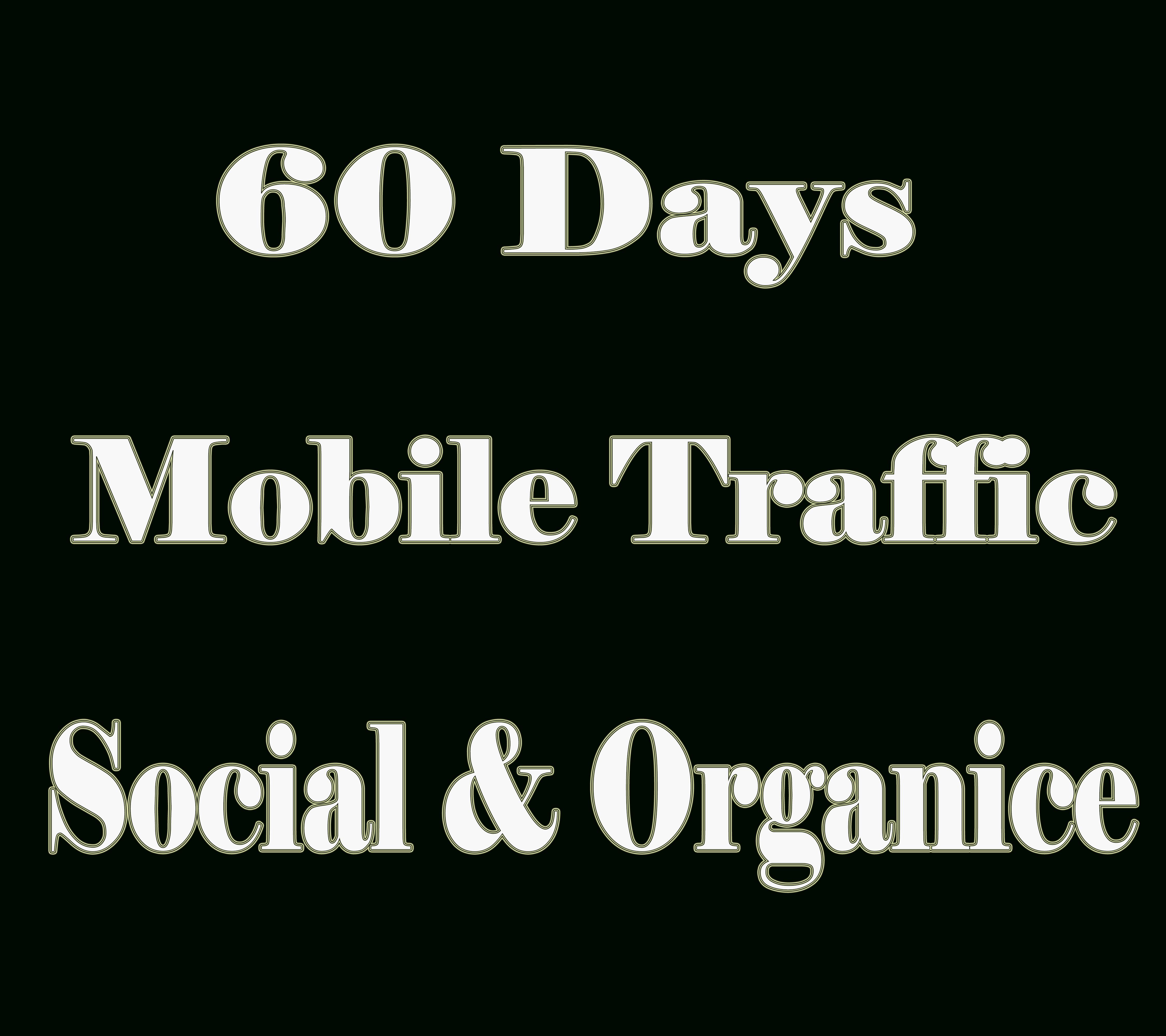 Get MOBILE Web Traffic 60 days