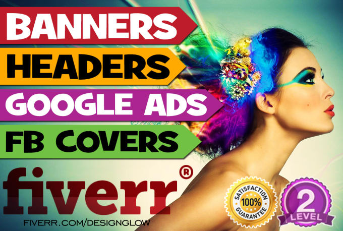 Design A Professional, Ads, Cover Web Banner, Header