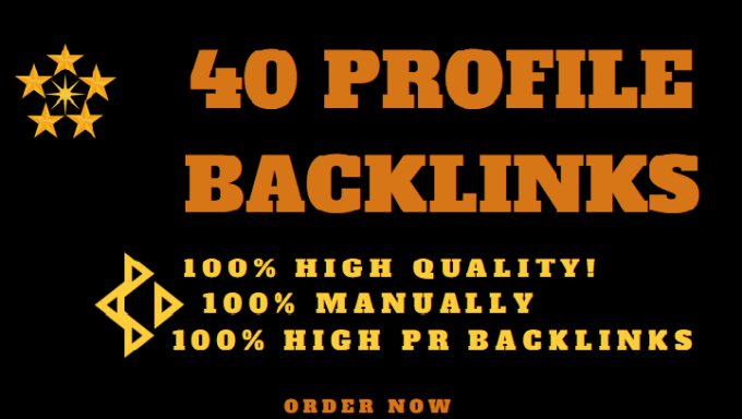 40 profile backlinks to high authority sites manually