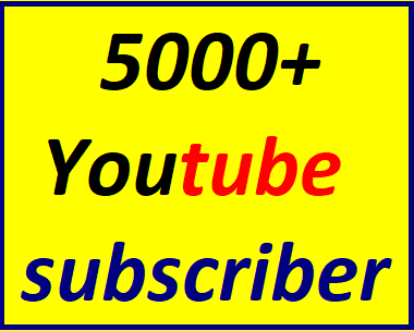 Guaranteed 5000+You'tube channel subscriber non drop within 24-96 hour just