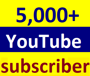 Guaranteed 5,000+You'tube channel subscriber non drop within 24-96 hour just