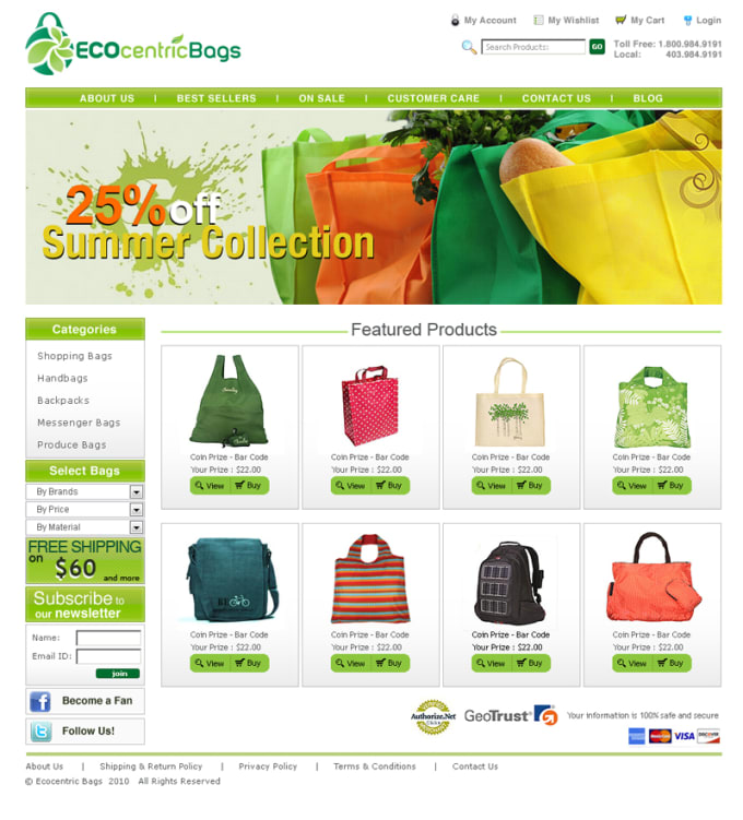 Create PROFESSIONAL Ecommerce website for your business