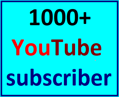 1000+YouTube real and active sub non drop guaranteed instant start