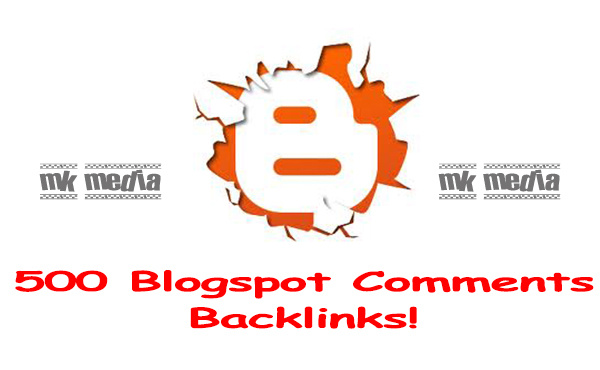 create 500 blogspot comment backlinks.