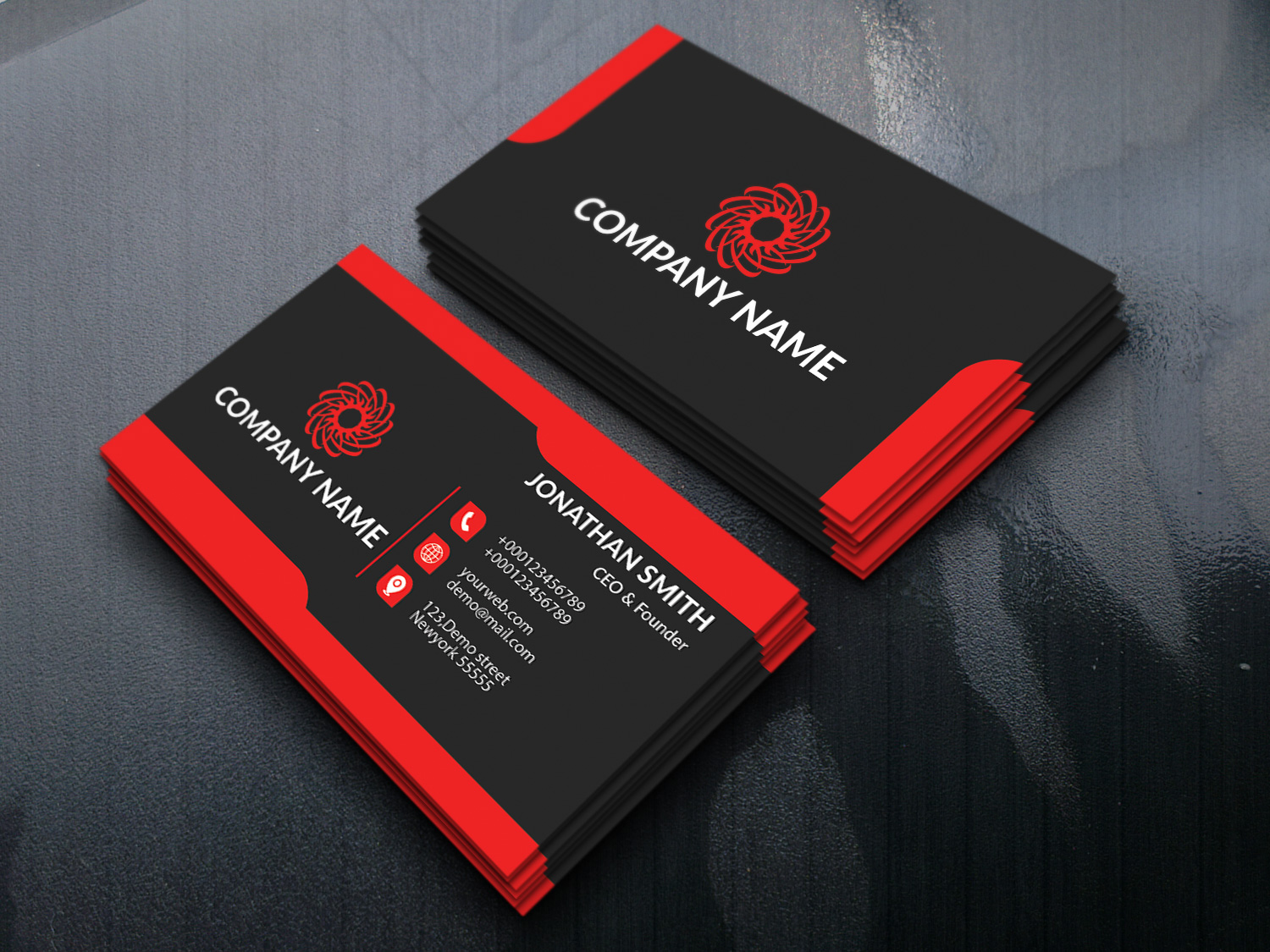 make stylish and professional business card for 5  seoclerks