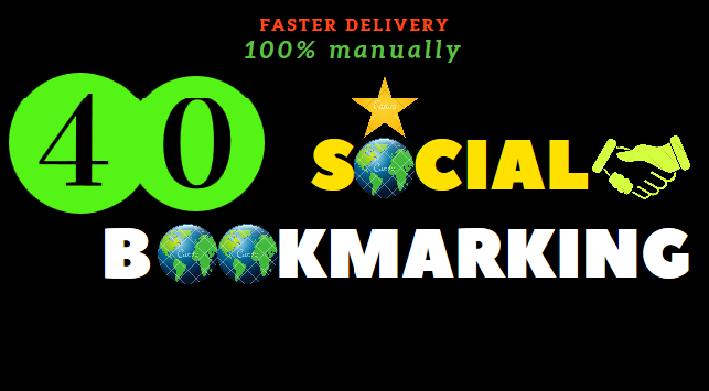 40 high quality social bookmarking manually