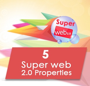 5 high pr web 20 properties manually
