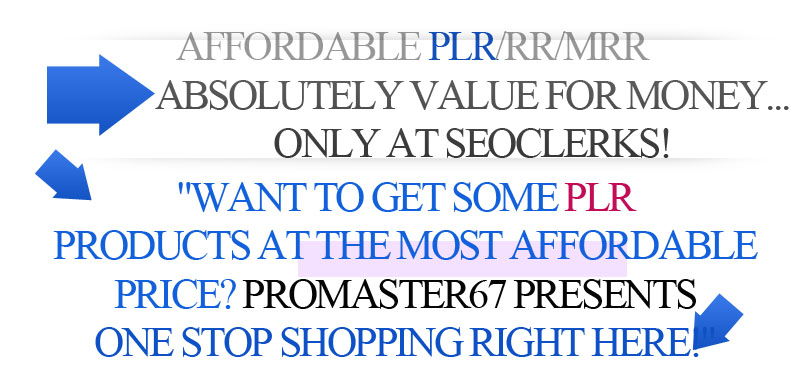 Get 1 PLR Product Plus Free 4 PLRs