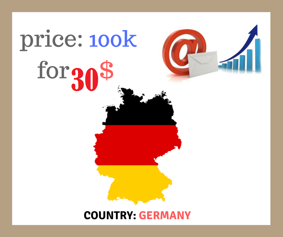 GET 100,000 emails GERMANY PREMIUM EMAILS FOR JUST 30