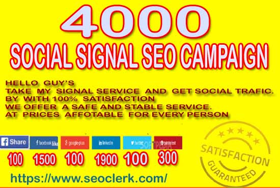 manually create 4000 social signal mix SEO campaign