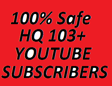 Awesome offer 123 Non Drop YouTube Subscribers