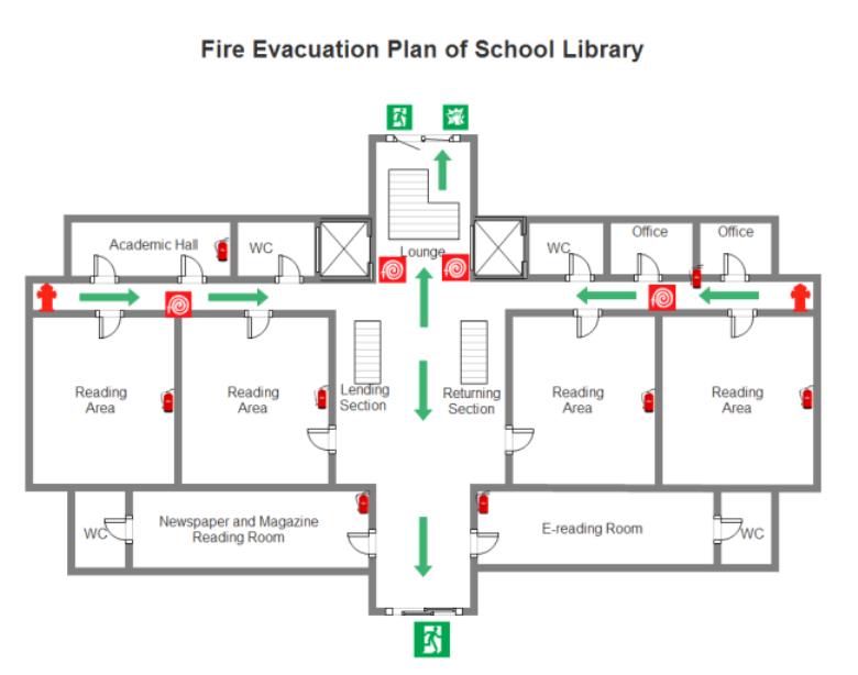 Evacuation Safety Floor Plan