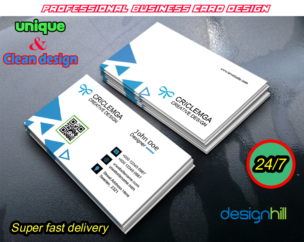 Double Sided Professional Business Card Design within 24 hours for ...