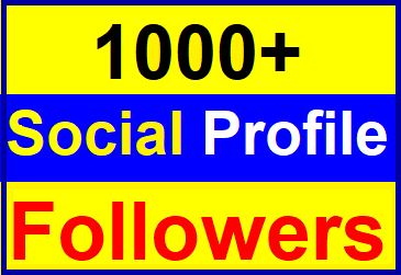 Add 1000+ High Quality Fast Profile Followers Instant Start