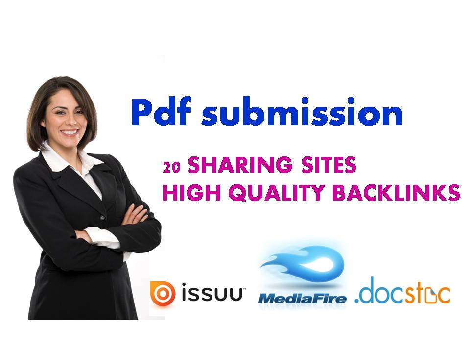 pdf submission in more than 20 sites