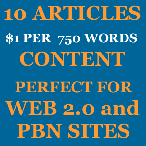 10 Articles/Content for Your Web 2.0 and PBN Sites