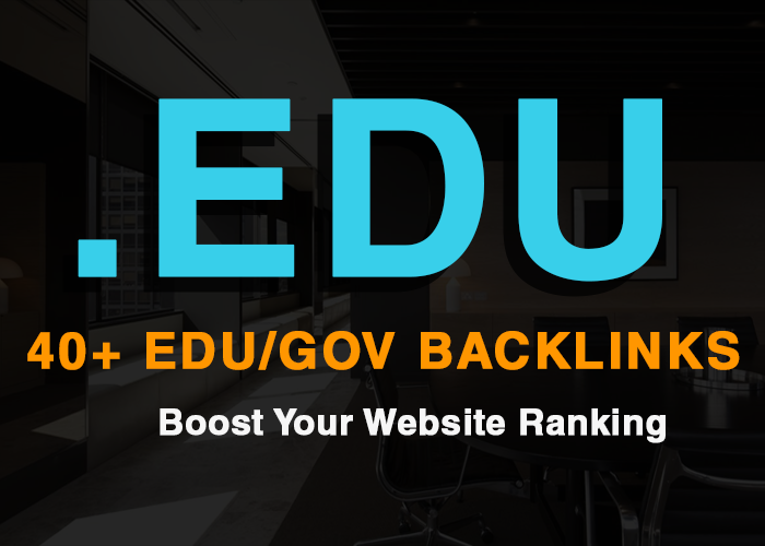 add 30+ Edu/Gov High Quality Backlinks within a day