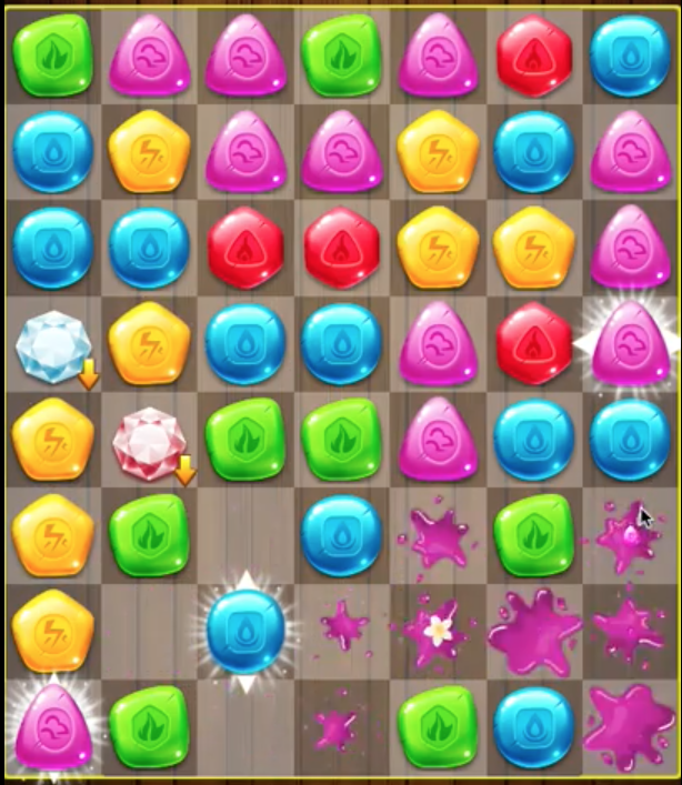 Reskin Candy Crush clone game