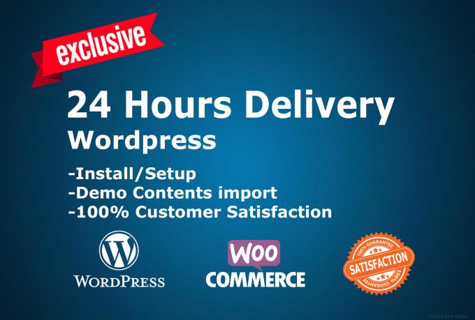 Install Wordpress Theme And Setup Exactly Like Demo