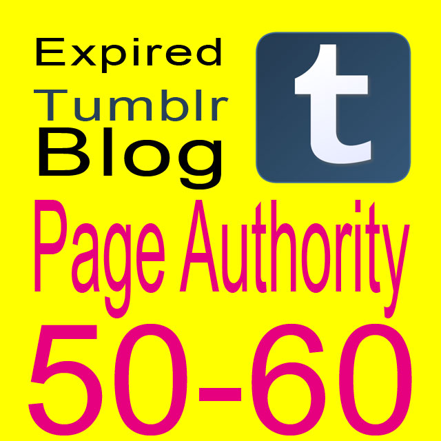 Get 5 Expired Tumblr Registered PA 50-60