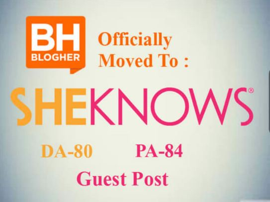 write and publish a Guest Post On Sheknows