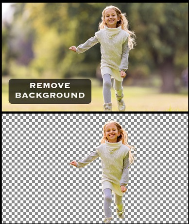 Remove Background from any Image of person or product.