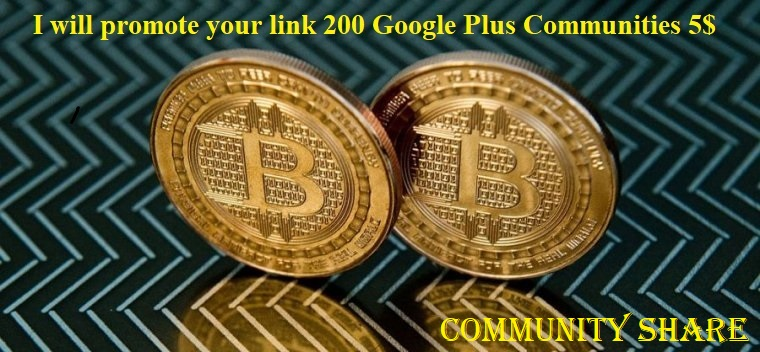 promote your link 200 Google Plus Communities With in 24 hours