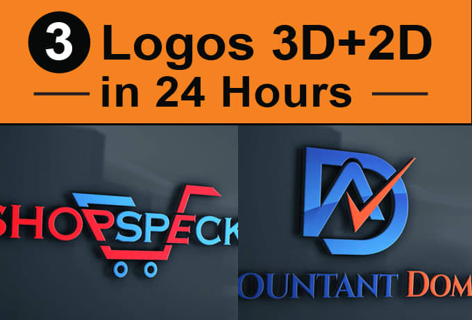 Design 3d Logo &flat logo in 24 hr