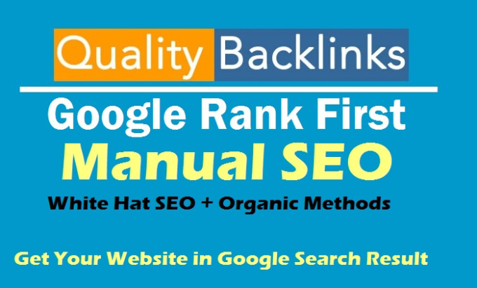 Rank You First In Google With SEO Backlinks
