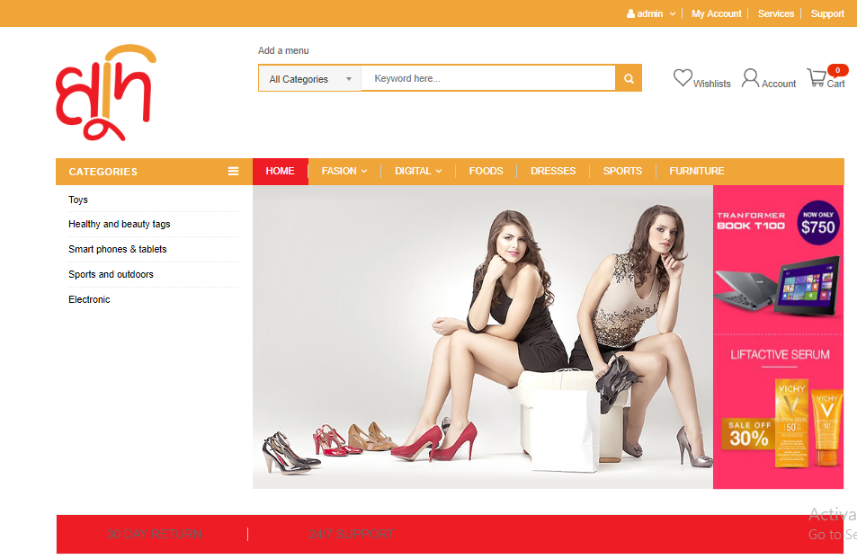 An e-commerce website for you