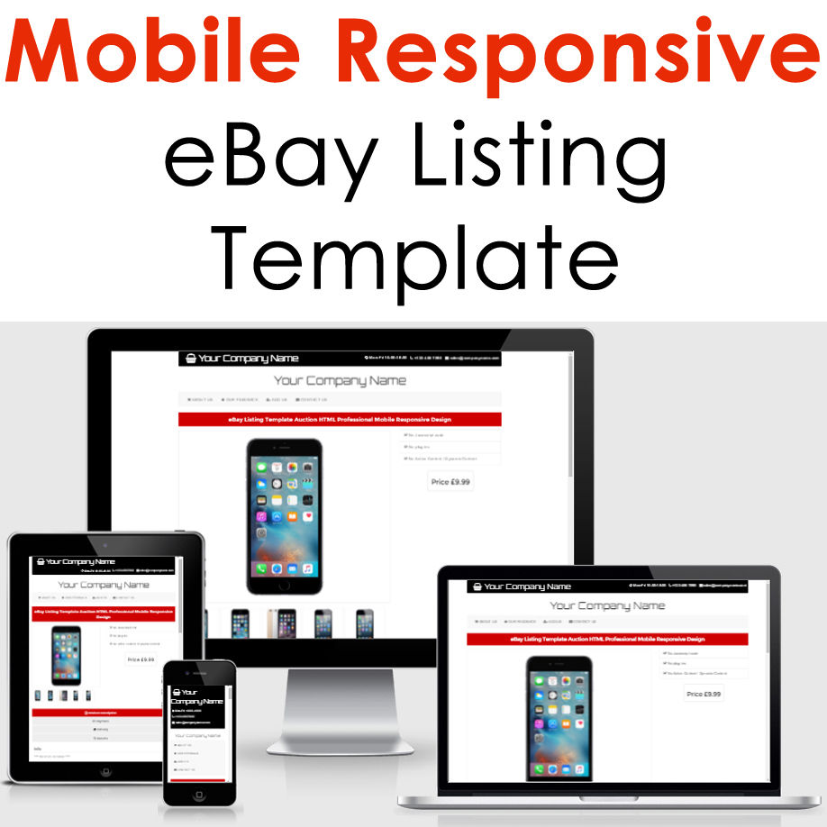 ebay listing template design auction mobile professional responsive html custom for 5 seoclerks. Black Bedroom Furniture Sets. Home Design Ideas
