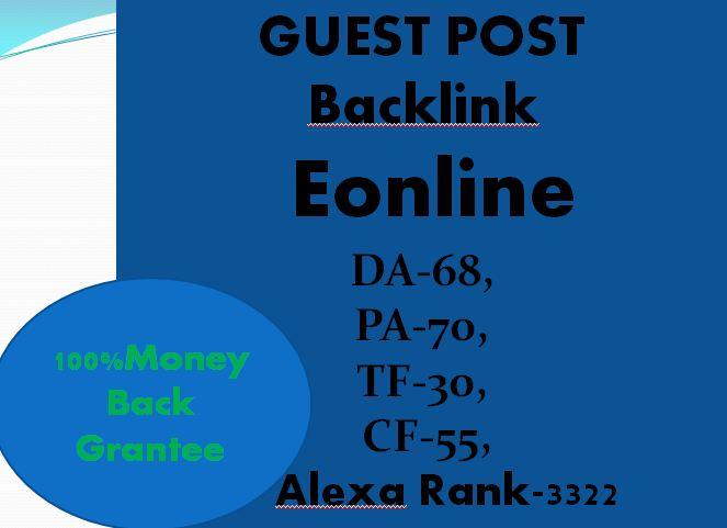 Write & Publish Guest Post On Eonline
