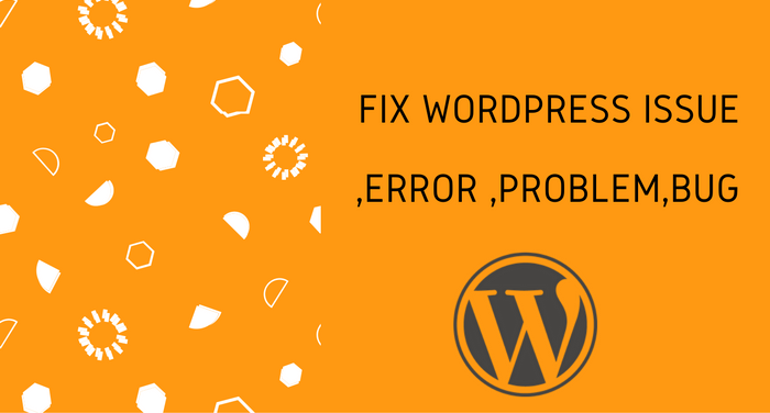 Fix Anytype of WordPress Error,  Bugs,  or issue