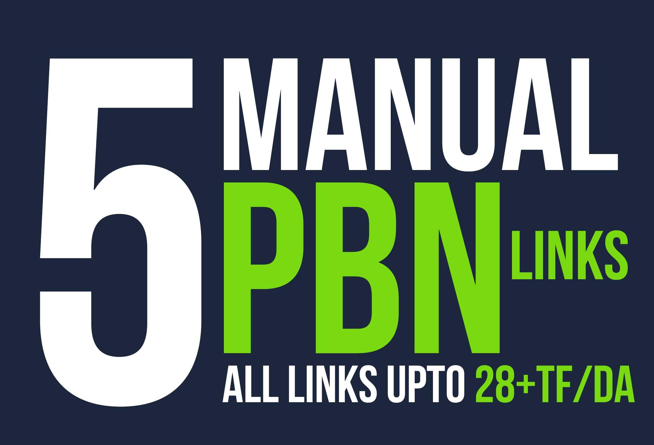 We Will Provide 5 Powerfull Homepage Pbn Backlinks