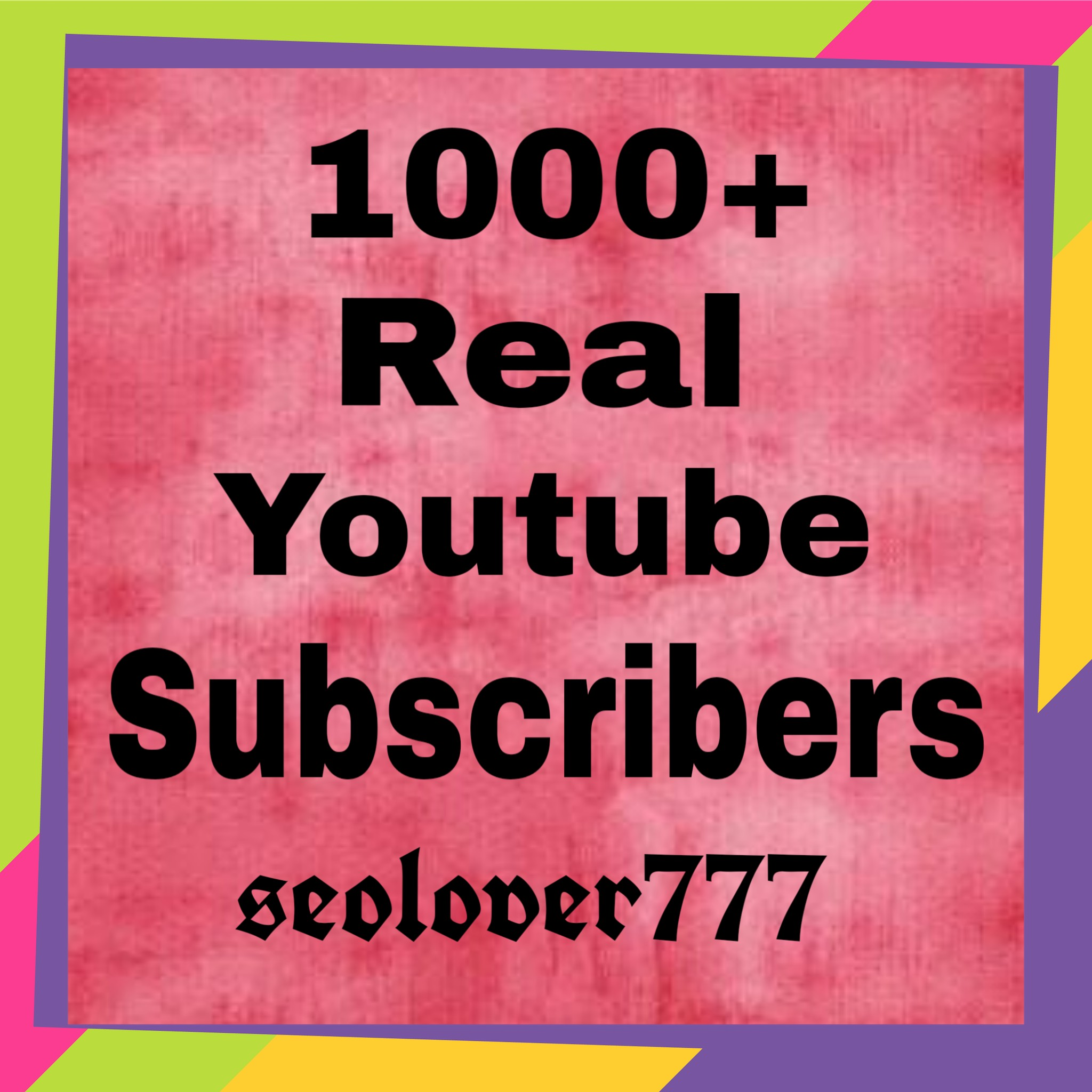 Never Drop 1000+ Real Youtube Channel Subscribers very fast only
