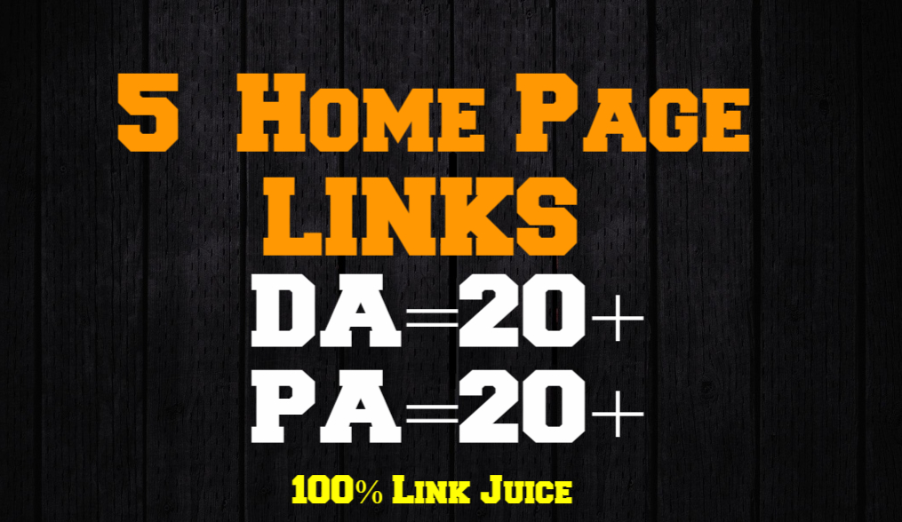 Skyrocket Your Web Ranking With 5 Homepage Links