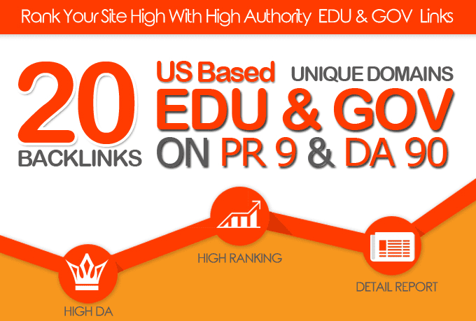 do 20 plus US based edu gov links on da90 pr9 unique domains