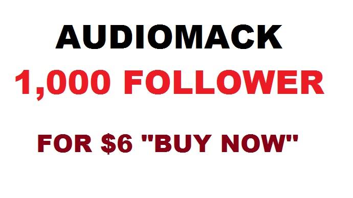 audiomack 1000 follower