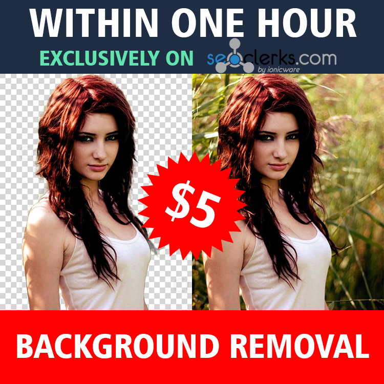 professionally remove background of any five images