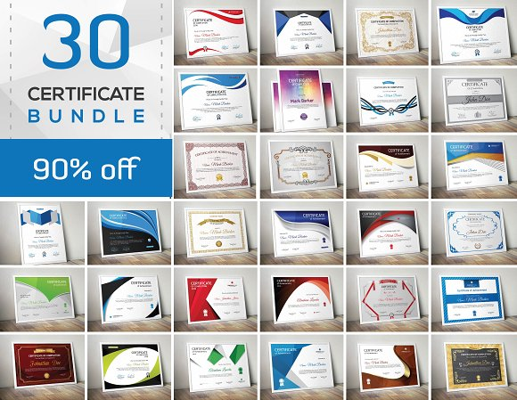 Get  30 Certificate Bundle SOURCE VECTOR  EPS