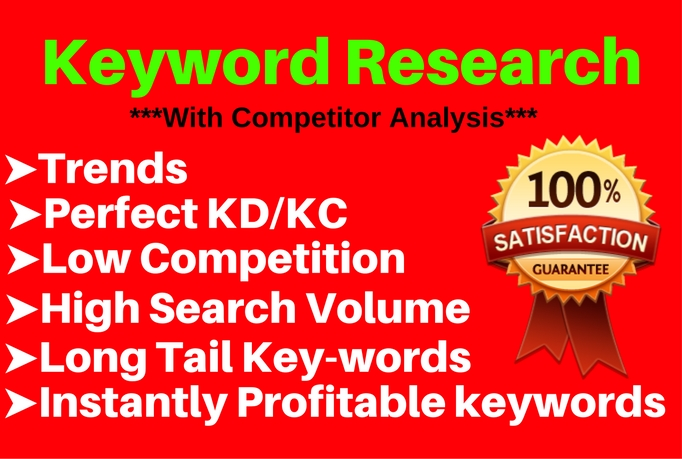 Best Keyword Research And Competitor Analysis