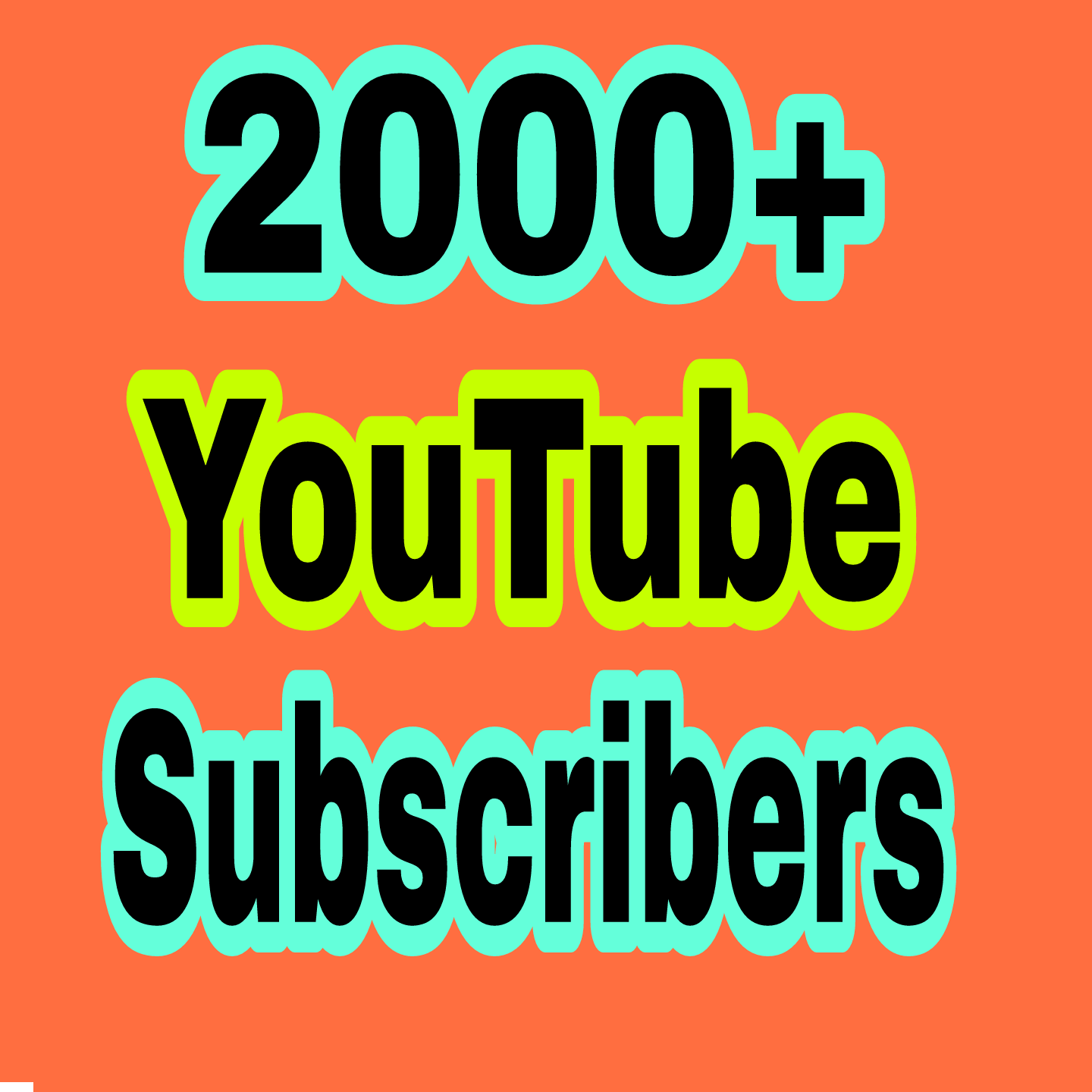 2000+ YouTube Real Chanel sub scribers non drop in 12-48 hours completed