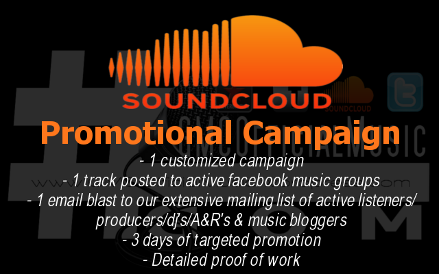 Provide 3 Days Of Promotion To Our Global Hiphop And Rap Network