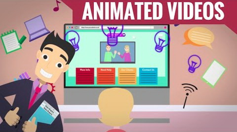 I will create informative video with animated characters