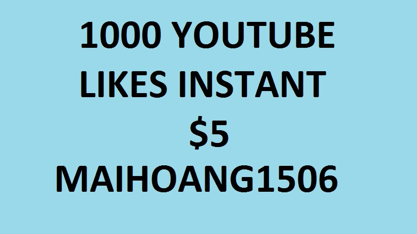 1000 + Supper Fast YT LIKES with cheap price