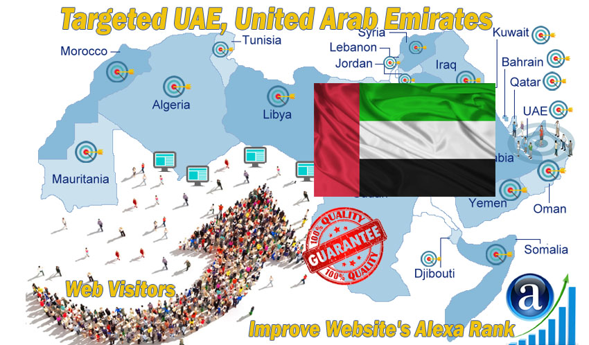 Send 20.000 UAE web visitors real targeted geo traffic