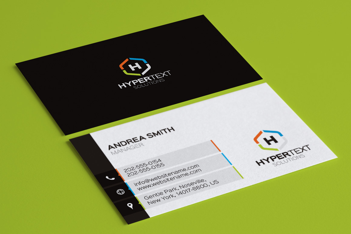 Flat And Elegent Business Card Template PSD Print Ready CMYK - Business card template psd