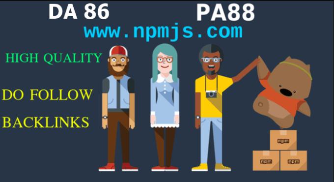 provide you dofollow backlinks on npmjs
