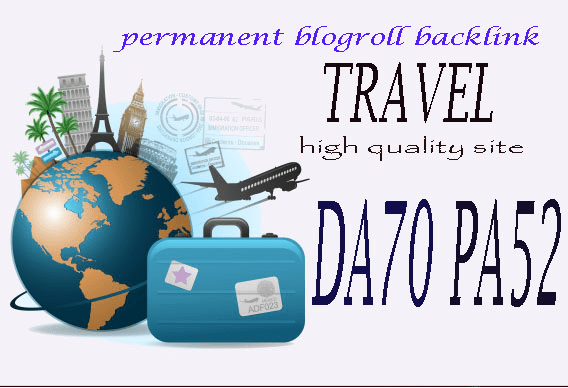give your backlink on da70x6 travel blogroll permanent